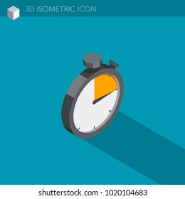 Stopwatch isometric illustration