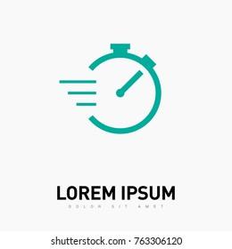 Stopwatch line vector icon