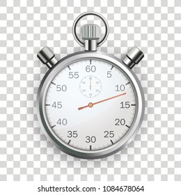 Stopwatch on the checked background.  Eps 10 vector file.