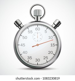 Stopwatch on the white background. Eps 10 vector file.