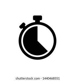 Stopwatch Symbol Icon Vector Design Illustration