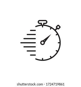 Stopwatch, timer, clock icon symbol illustration