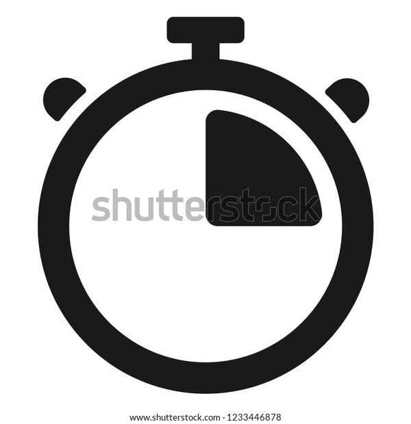 Stopwatch Timer Icon Stock Vector (Royalty Free) 1233446878