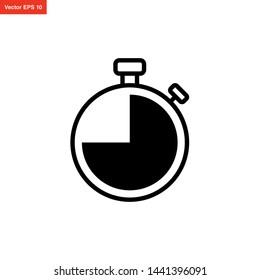 stopwatch timer icon vector design