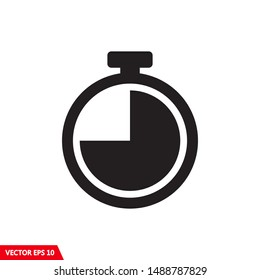 Stopwatch timer icon vector flat design