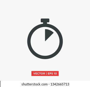 Stopwatch Timer Icon Vector Illustration