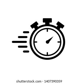 Stopwatch timer icon vector on white background