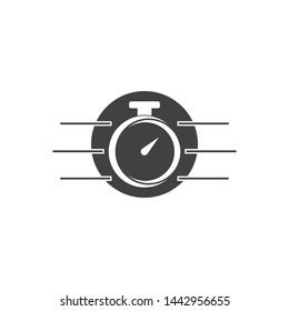 stopwatch timer logo template web icon design element vector
