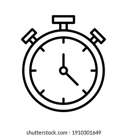 Stopwatch, timer, timout, sale end icon vector image. Can also be used for shopping and  ecommerce. Suitable for use on web apps, mobile apps and print media.