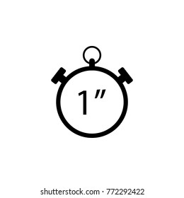 Stopwatch vector icon, 1 second. The sign of win Icon. Premium quality graphic design. Signs, symbols collection, simple icon for websites, web design, mobile app on white background