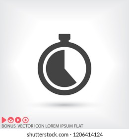 stopwatch vector icon 10 EPS