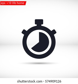 Stopwatch Vector icon 10 EPS