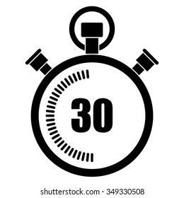 Stopwatch vector icon, 30 seconds