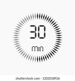 stopwatch vector icon, digital timer. clock and watch, timer, countdown symbol.