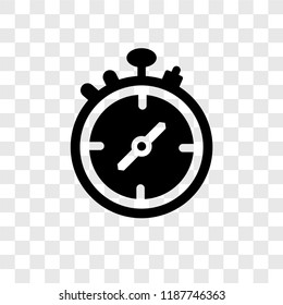 Stopwatch vector icon isolated on transparent background, Stopwatch transparency logo concept
