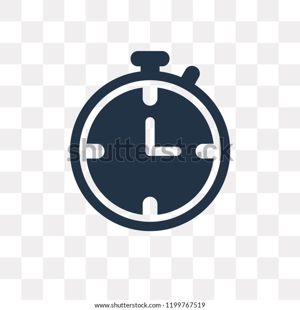 Stopwatch Vector Icon Isolated On Transparent Stock Vector