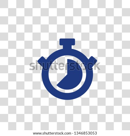 Stopwatch Vector Icon On Transparent Background Stock Vector