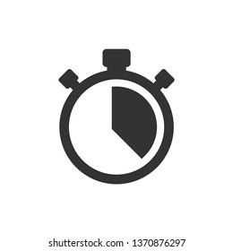 Stopwatch vector icon on white background