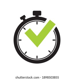 Stopwatch vector icon. Time timer vector icon.on white background