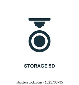 Storage 5D icon. Premium style design from future technology icons collection. Pixel perfect Storage 5D icon for web design, apps, software, print usage