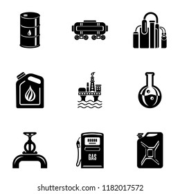 Storage depot icons set. Simple set of 9 storage depot vector icons for web isolated on white background