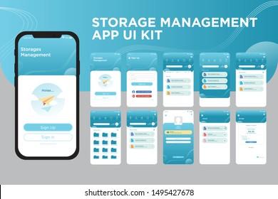 Storage Management App UI Kit Template