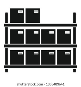 Storage parcel rack icon. Simple illustration of storage parcel rack vector icon for web design isolated on white background