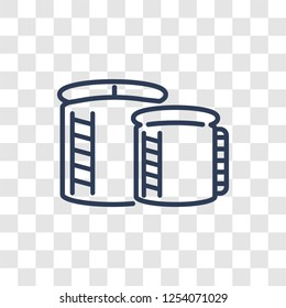 storage Tank icon. Trendy linear storage Tank logo concept on transparent background from Industry collection