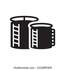 storage Tank icon. Trendy storage Tank logo concept on white background from Industry collection. Suitable for use on web apps, mobile apps and print media.