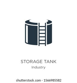 Storage tank icon vector. Trendy flat storage tank icon from industry collection isolated on white background. Vector illustration can be used for web and mobile graphic design, logo, eps10