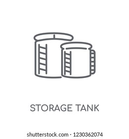 storage Tank linear icon. Modern outline storage Tank logo concept on white background from Industry collection. Suitable for use on web apps, mobile apps and print media.