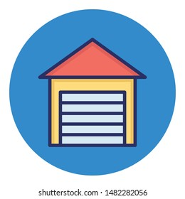 Storage Unit Isolated Vector icon which can easily modify or edit