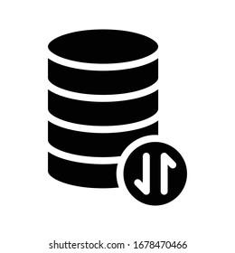 storage vector glyph flat icon