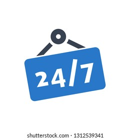 Store - 24/7 Nonstop Sign Icon