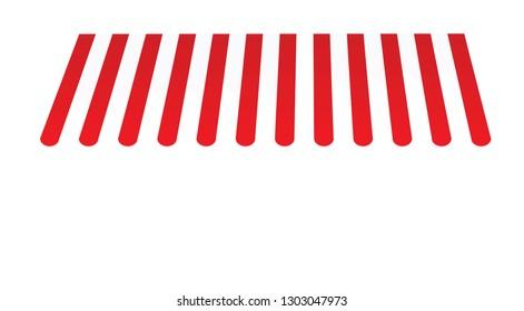 Store front umbrella. vector illustration