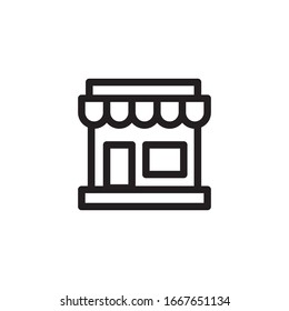 store icon line art style