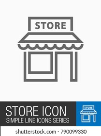 Store icon, shopping symbol