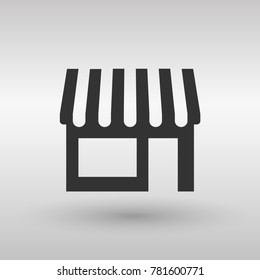 store icon. Simple filled store vector icon
