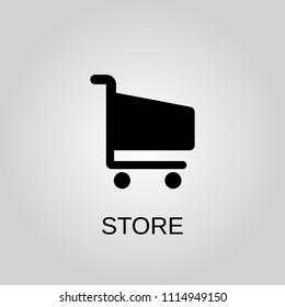 Store icon. Store symbol. Flat design. Stock - Vector illustration