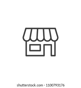 Store icon trendy line style