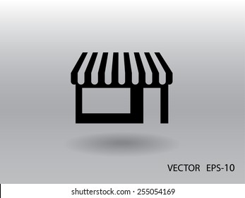 Store icon, vector illustration