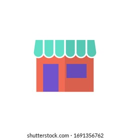 store icon vector illustration. store icon flat style design