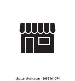 store icon vector illustration. store icon glyph style design