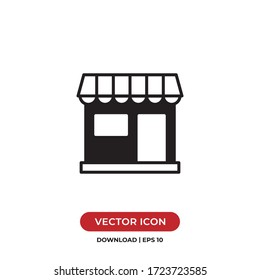 Store icon vector. Simple store sign