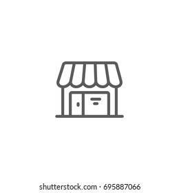 Store line icon, Vector on white background