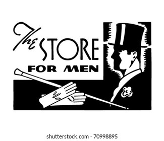 The Store For Men 2 - Retro Ad Art Banner