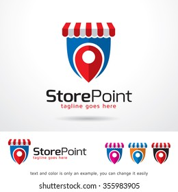 Store Point Logo Template Design Vector