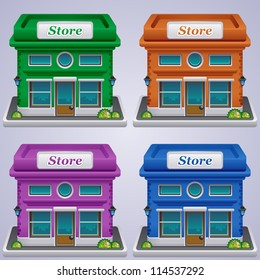Store set icons. Shop icons collection.