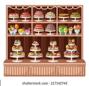 Store sweets and bakery. vector illustration