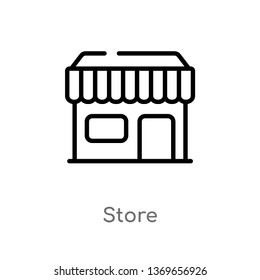 store vector line icon. Simple element illustration. store outline icon from user interface concept. Can be used for web and mobile